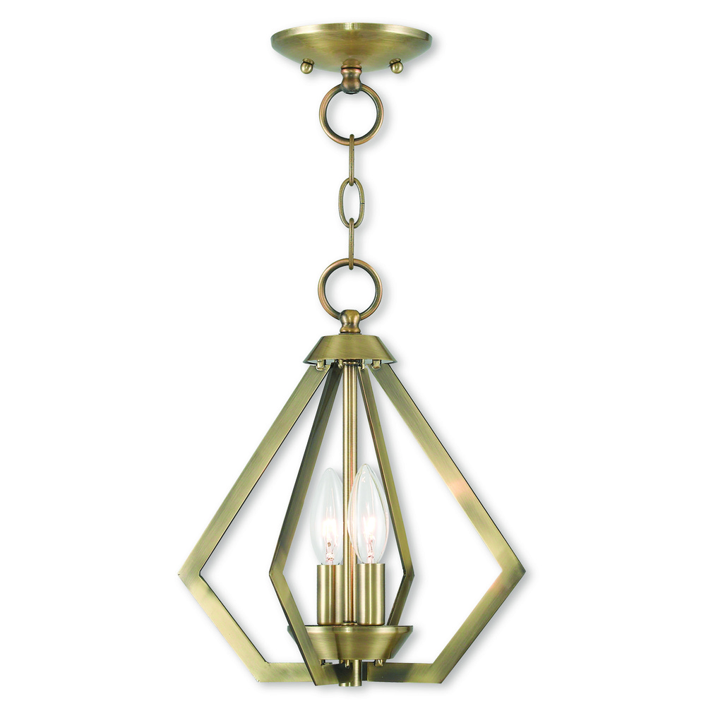 2 Light AB Mini Chandelier/Ceiling Mount