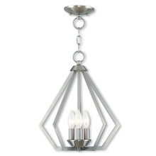 Livex Lighting 40923-91 - 3 Light BN Mini Chandelier/Ceiling Mount