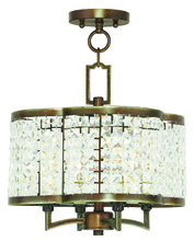 Livex Lighting 50574-64 - 4 Light PBZ Mini Chandelier/Flush Mount