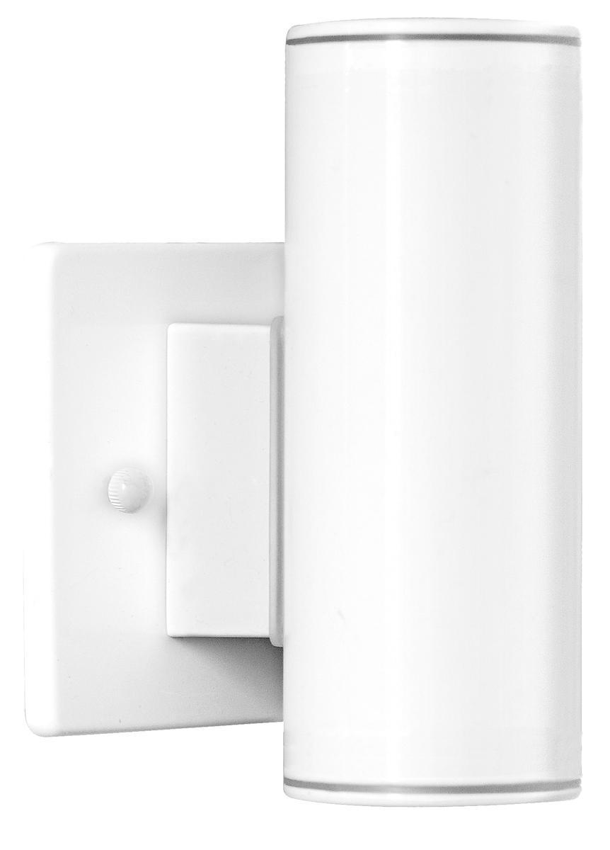 1x50W Outdoor Wall Light w/ White Finish