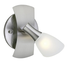 Eglo 20479A - 1x40W Wall Light w/ Matte Nickel Finish & White Glass