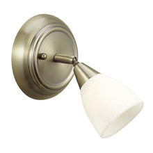 Eglo 21664A - Wall Light  w/ Burnished Bronze Finish & Cream  Glass