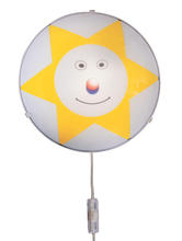 Eglo 83949A - 1x60W Childrens Wall Light w/ Sun Face