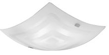 Eglo 86853A - 2x60W Ceiling Light w/ Matte Nickel Finish & Clear & Satin Glass