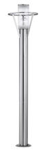Eglo 88117A - 1x100W Outdoor Post light w/ Stainless Steel Finish & Clear Glass