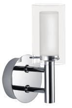 Eglo 88193A - 1x40W Vanity Light w/ Chrome Finish & Frosted & Clear Glass