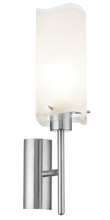 Eglo 90341A - 1x100W Wall Light w/ Matte Nickel Finish & Frosted Clear Glass