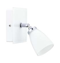 Eglo 91778A - 1x60W Wall Track Light w/ Chrome &White Finish & White Glass
