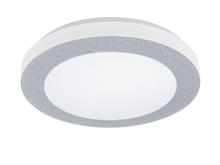 Eglo 93508A - 1x18W LED Ceiling Light w/ Iridescent Finish & White Plastic Glass