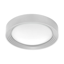 Eglo 95692A - 1x13W LED Ceiling Light w/ Silver Finish & Plastic White Bulb Cover