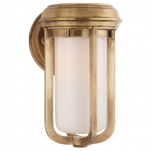 Visual Comfort TOB 2210HAB-WG - Milton Small Sconce in Hand-Rubbed Antique Brass