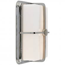 Visual Comfort TOB 2212PN-WG - Milton Short Sconce in Polished Nickel with Whit