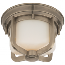 Visual Comfort TOB 4011AN-WG - Milton Short Flush Mount in Antique Nickel with