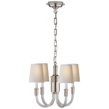 Visual Comfort TOB 5031PN-NP - Vivian Mini Chandelier in Polished Nickel with N