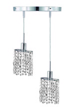 Elegant 1282D-R-E-CL/RC - 1282 Mini Collection Hanging Fixture Round Canopy D9in H12in-48in Ellipse Pendant  Lt:2 Chrome Finis