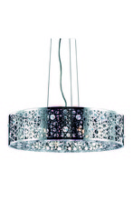 Elegant 2051D24C/RC - 2051 Soho Collection Pendant D:24in H:7.7in Lt:8 Chrome Finish (Royal Cut Crystals)