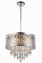 Elegant 2059D20C/RC - 2059 Sterling Collection Pendant D:20.5in H:13in Lt:6 Chrome Finish (Royal Cut Crystals)