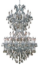 Elegant 2801D36SC-GT/SS - 2801 Maria Theresa Collection Chandelier D:36in H:56in Lt:34 Chrome Finish (Swarovski� Elements Crys