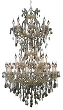 Elegant 2801D36SG-GT/SS - 2801 Maria Theresa Collection Chandelier D:36in H:56in Lt:34 Gold Finish (Swarovski� Elements Crysta