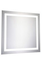 "Elegant MRE-6010 - LED Electric Mirror Square W28"" H28"" Dimmable 5000K"
