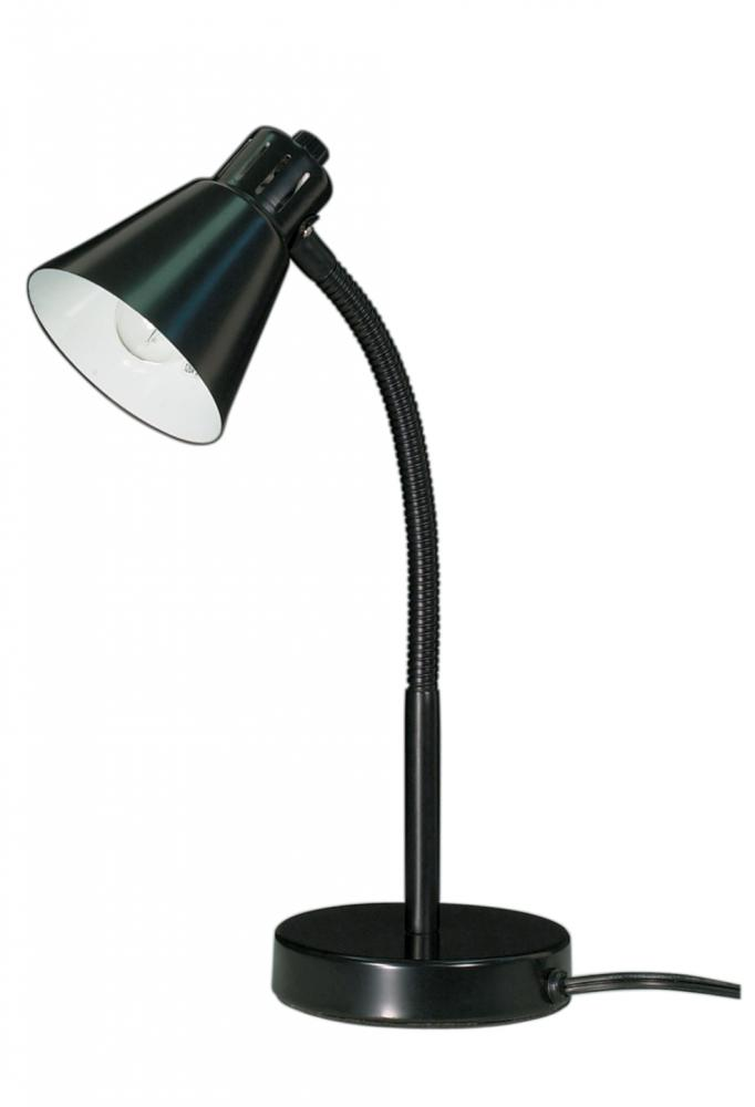 Small Goose Neck Desk Lamp Black